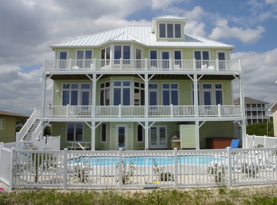 Guthrie Construction Custom Home Builder Bahama Breeze Emerald Beach Front Sanddollars Private Pool W Connect Baby In Isle Usa North Carolina